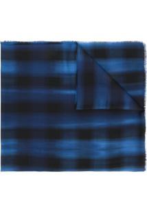 Lanvin Echarpe Xadrez - Azul