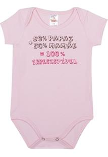 Body Bebê Algodão Mini Shake 100 Porcento Irresistível Feminino - Feminino