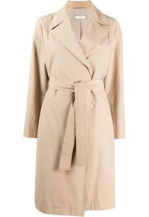 Peserico Trench Coat Com Cinto - Neutro