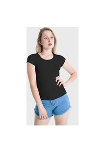 Camiseta T-Shirt Básica Lynnce Preto