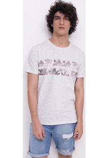 Camiseta Com Faixas Étnica E Floral