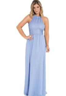 Vestido Quintess Festa Social Azul Claro