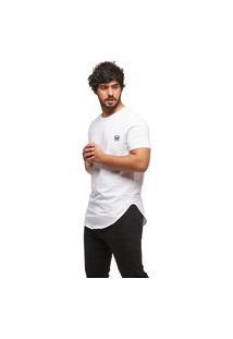 Camiseta Longline Oversized Swag Manga Curta Wooks C1-Branco-Gg
