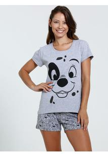 Pijama Feminino Short Doll Estampa 101 Damaltas Disney
