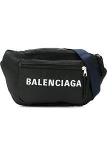 Balenciaga Pochete Com Logo - Preto