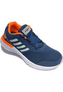 Tênis Box 200 Escolar - Masculino-Azul+Laranja