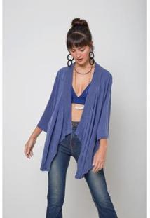 Kimono Oriental Color Onda - Oh, Boy! - Feminino-Azul