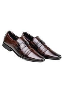 Sapato Masculino Comfort Café Social Premium Confortável E Estiloso
