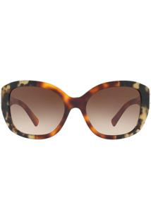 191257d00a6f8 Óculos De Sol Burberry Irregular Be4248 Feminino - Feminino-Caramelo