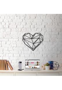 Escultura De Parede A Laser Coração