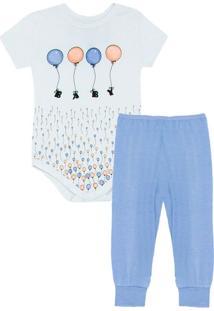 Pijama Baby Unissex Body Balão