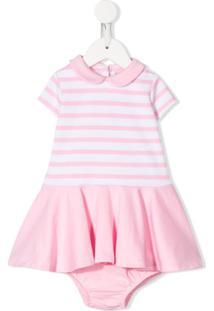 Ralph Lauren Kids Vestido Com Listras - Rosa