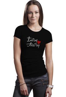 Camiseta Baby Look Hunter Brisa Louca Turu Turu Preta