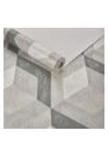 Papel De Parede Importado Geometrico Texturizado Verde 3D