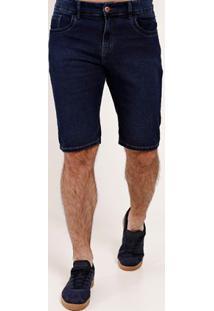 Bermuda Jeans Moletom Cook'S Masculina Azul
