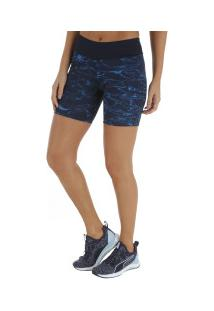 Bermuda Adidas Power Graphic Tight - Feminina - Azul Esc/Azul