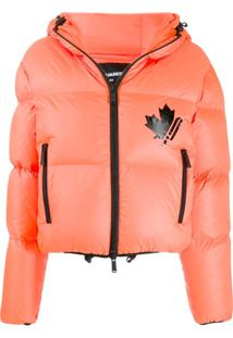Dsquared2 Hooded Puffer Jacket - Laranja