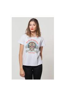 Camiseta Jay Jay Basica Los Muertos Branca Dtg