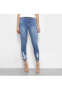 Calça Jeans Skinny Biotipo Destroyed Feminina - Feminino