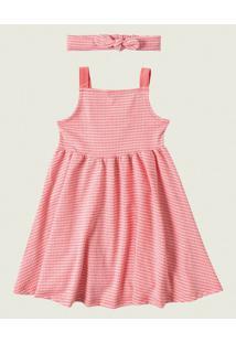 Vestido Godê Vichy Malwee Kids Rosa - 2