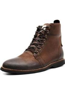 Bota Shoes Grand Cano Baixo Masculina - Masculino-Marrom