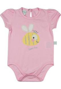 Body Infantil Cotton Abelhinha Queen Bee Ano Zero Feminina - Feminino