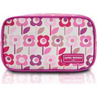 Necessaire Infantil Jacki Design Flor Microfibra Feminina - Feminino-Rosa 186653e76a