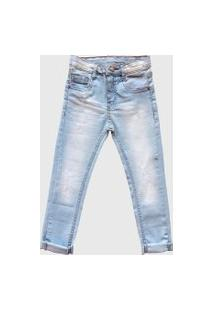 Calça Jeans Mabu Denim Skinny Lavagem Clara