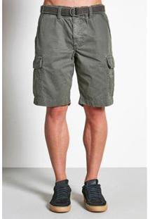Bermuda Cargo Jobim Cinto Masculina - Masculino-Verde Militar