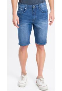 Bermuda Jeans Five Pockets - Azul Marinho - 40