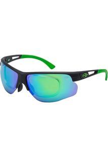 0106d2a95 Óculos De Sol Espelhado Mormaii Eagle Esportivo Preto Fosco E Verde
