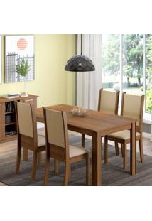 Conjunto De Mesa Com 4 Cadeiras De Jantar Melissa Corino Rústico