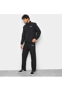 Conjunto Agasalho Adidas Mts Wv Detalhe Estampado Masculino - Masculino-Preto