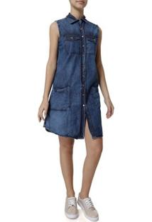 Vestido Jeans Curto Feminino Uber Azul