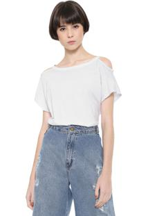 Camiseta Triton Recortes Branca
