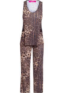 Pijama Calça Regata Onça - Animal Print