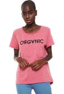 Camiseta Colcci Organic Rosa