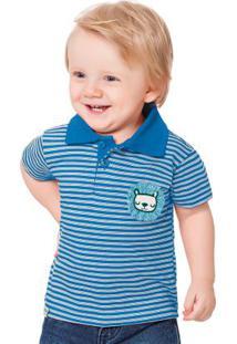 Camisa Polo Azul Fakini Kids