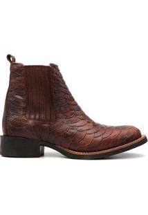 Bota Elite Country Escamada Honey Masculina - Masculino