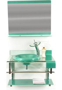 Gabinete De Vidro Para Banheiro Turquia Verde Oliva Ekasa