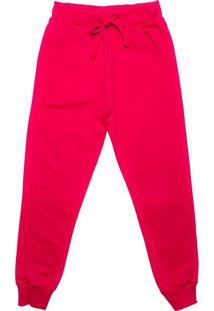 Calça De Moletom Infantil Rovitex Menina Pink - 4