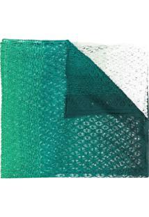 Missoni Cachecol De Tricô Em Degradê - Verde