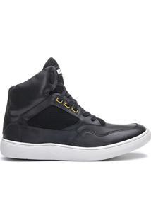 Tênis Sneaker Cano Alto Masculino Rock Fit Silverchair Preto