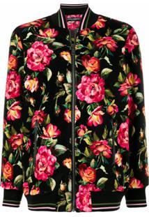 Dolce & Gabbana Jaqueta Bomber Floral - Estampado