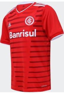 Camisa Adidas Internacional 2021 I S/N Vermelha Infantil