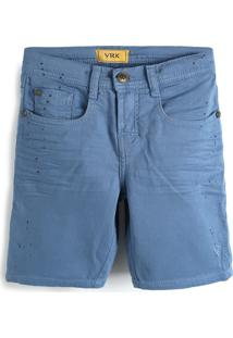 Bermuda Jeans Vr Kids Infantil Paint Splatter Azul