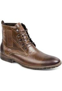 Bota Dress Boot Masculina Sandro Moscoloni Prime Marrom Escuro Tan