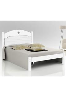 Cama Casal Extensível Kely Cambel Móveis Branco/Preto