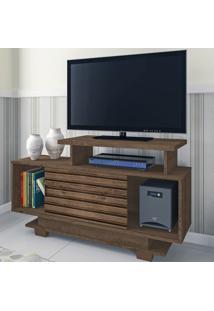 Rack Para Tv Até 32 Polegadas Bali 1 Porta Flex Moccacino Rústico/3D Mocaccino - Atualle Móveis