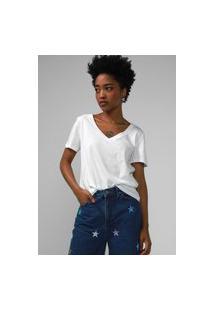 Camiseta Gap Gola V Off-White